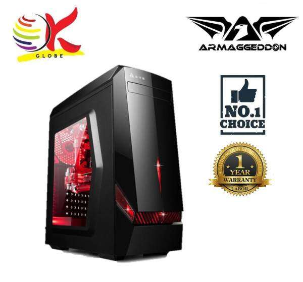 ARMAGGEDDON DECATRON T3Z FULL ATX BLACK COATED CHASSIS WITHOUT PSU Malaysia