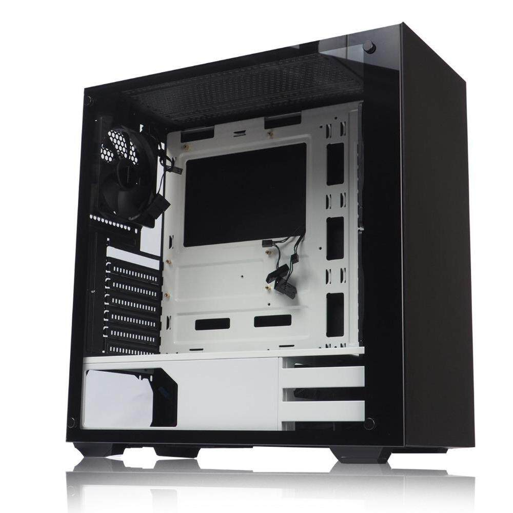 Tecware NEXUS TG BLACK/WHITE ATX Gaming Case Malaysia
