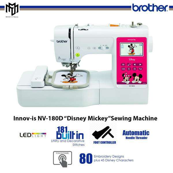"""Brother Innov-is NV-180D """"Disney Mickey"""" Sewing Machine [PINK] on disney frozen embroidery designs, disney planes embroidery designs, disney cars embroidery designs, disney characer mii characters codes, disney alphabet embroidery designs, disney font embroidery designs, disney aladdin monkey embroidery designs, disney trip embroidery designs, mickey mouse disney embroidery designs, disney pes embroidery designs, disney sayings embroidery designs, disney embroidery software, disney logo embroidery designs, disney home cross stitch, disney toy story embroidery designs, disney thanksgiving embroidery designs, disney applique embroidery designs, disney beauty and the beast embroidery designs, disney machine embroidery,"""