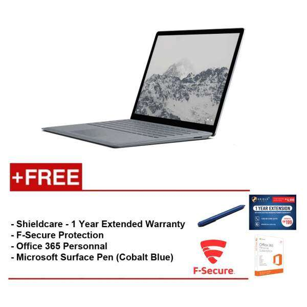 Surface Laptop Core i5/8GB RAM - 256GB + Shield Care 1 Year Extended Warranty + F-Secure End Point Protection + Office 365 Personal + Microsoft Surface Pen Burgundy Malaysia