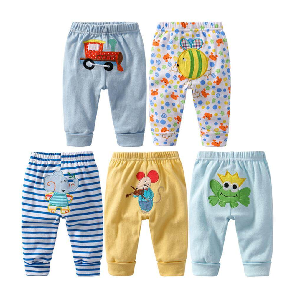 FC 5PCS Baby Fashion PP Pants Cartoon Animal Printing Cotton Baby Trousers Kid Wear Baby Pants