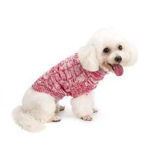 Pet Dog Cat Knit Sweater Classic Turtleneck Knitwear Winter Coat Clothes(Red)-Big - intl 6