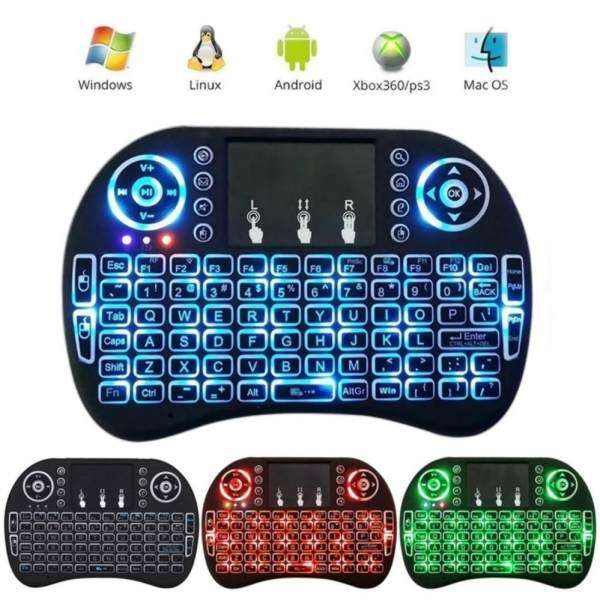 Gigaware Rii I8 Mini 2.4Ghz Wireless Touchpad Keyboard With Mouse For Pc, Pad, Xbox 360, Ps3, Google Android Tv Box, Htpc, Iptv COLORFUL DESIGN Malaysia