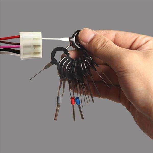 11pcs wire harness car plug terminal extractor pick connector needle rh handtoolph com Molex Pin Tool Kit VW Pin Tool