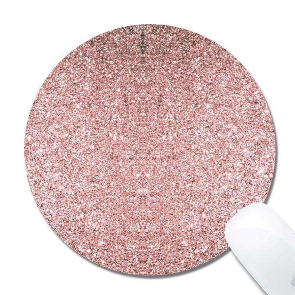 Gaming Mouse Pad Non-Slip Rubber Base Mouse Mat Pink Glitter Malaysia
