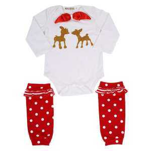 Clearance sale(GZ)-New Born Infant Babies Leg Warmers Rompers Casual Two Pieces Outfit Set - intl