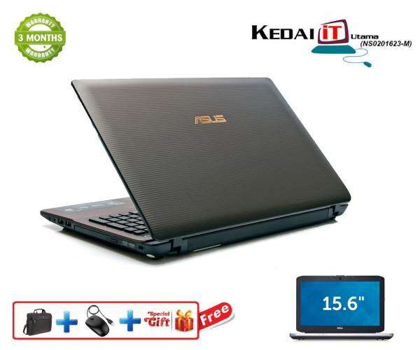Asus Laptop - (Recon) K53E i5 2nd Gen 4Gb Ram 500 Gb hdd windows 10 webcam 3 months warranty Malaysia