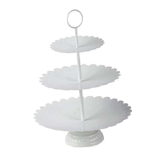 BolehDeals Wrought Iron Round Cake Stand Cupcake Stand Dessert Stand Tea Party Serving Platter for Wedding Party Tea Party Decor