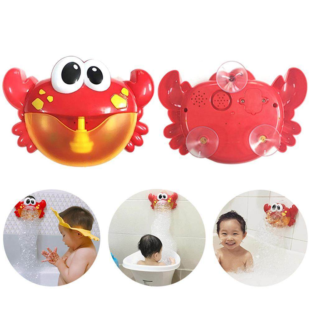 Auoker Funny Bath Bubble Maker, Children Automated Spout Crab Bath Toy, Cute Bubble Making Machine Educational Water Toys Gift For Boys & Gilrs,23*15.5*7cm