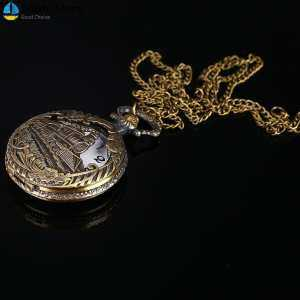 Hình thu nhỏ sản phẩm Saista Fob Pocket Watch Pocket Watch Train Antique Jewelry Pendant Necklace