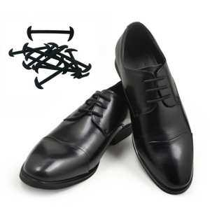 Hình thu nhỏ sản phẩm 12Pcs Elastic Free Tying No Tie Lazy Silicone Shoelace Dress Shoe Laces - intl