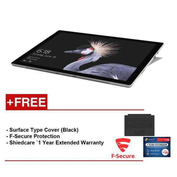 NEW Microsoft Surface Pro-Core I5 4G/128GB Free Surface Pro Type Cover (Black) + Shieldcare 1 YR Extended Warranty + F-Secure End Point Protection Malaysia