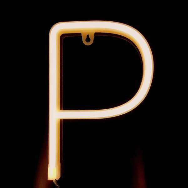 Letter Lamp Operated Powered P Shape Warm White for Home Party Decoration Cafe Shop Restaurant Wedding Function Lamp Shades P