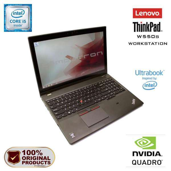 LENOVO THINKPAD W550s WORKSTATION ULTRABOOK - CORE I5/ 16GB RAM/ 1000GB HDD/ 2GB NVIDIA QUADRO K620M Malaysia