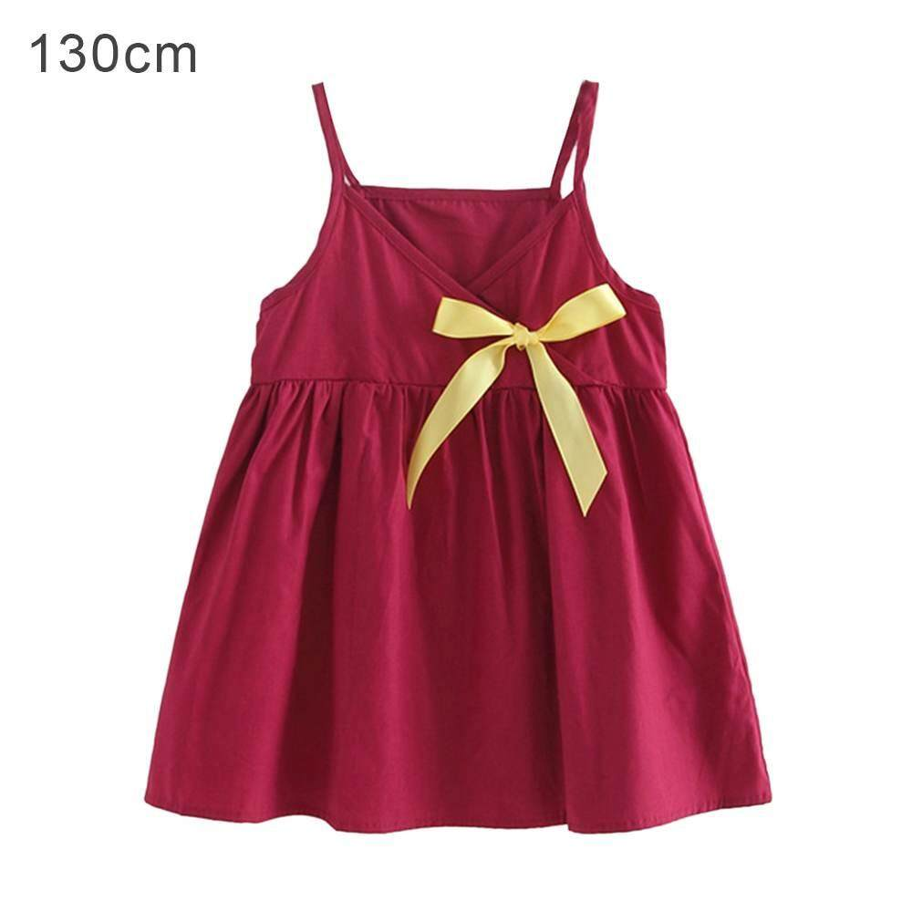 Jnan Baby Toddler Girl Summer Fashion Cute Dress with Large Bow