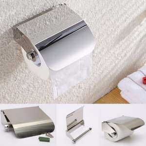 Bathroom Wall Mounted Stainless Steel Chrome Toilet Paper Holder Roll Tissue Box - intl 3