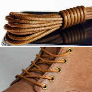 Hình thu nhỏ sản phẩm 8 color Waxed Round Shoe Laces Leather Brogues 27.6 Ochre - intl