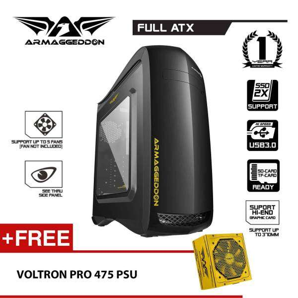 Armaggeddon Elvatron T11 Gaming PC Chassis Free Voltron Pro 475X Power Supply Malaysia