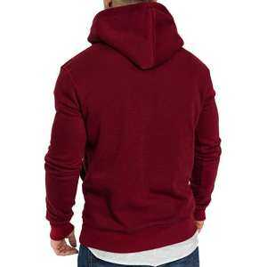 Hình thu nhỏ sản phẩm SA Men Fashion Drawstring Hooded Sweatshirt Long-Sleeve Casual Coat Tops for Winter Autumn