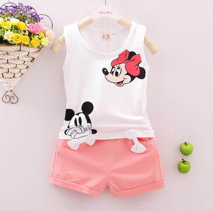 2PCS Toddler Kids Baby Girls T-shirt Tops+Short Pants Summer Outfits Set Clothes - intl