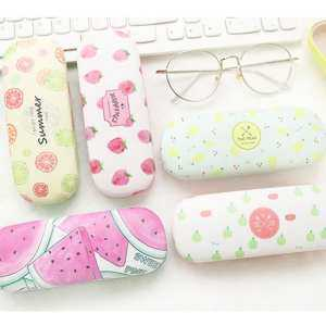 oppoing Cartoon Fruits Printed Glasses Protector Storage Box Protective Hard Shell Glasses Case For Eyeglasses And Sunglasses - intl