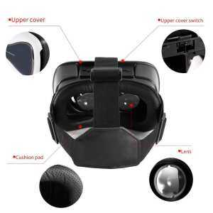 Hình thu nhỏ sản phẩm OBBB Black/White Portable VRD3 Virtual Reality Glasses Helmet MY VR Box Realistic 3D Glasses Headset Cardboard For Most Smartphones