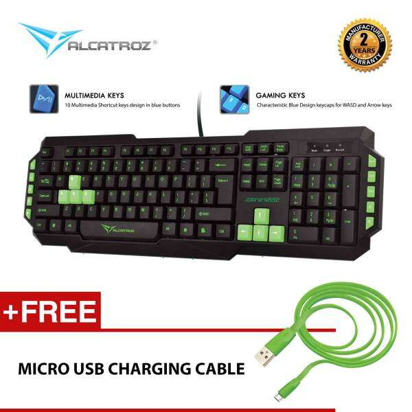 Xplorer M550 Multimedia Gaming Keyboard Free Micro USB Charging Cable By Alcatroz Malaysia