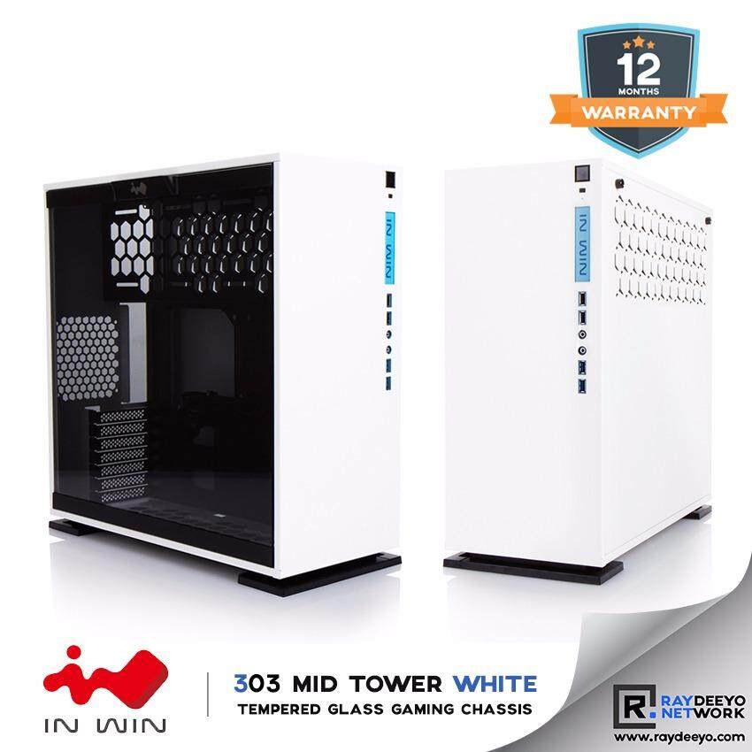 IN WIN 303 Tempered Glass ATX Chassis (WHITE) [ATX, Matx, Mini-ITX] Malaysia