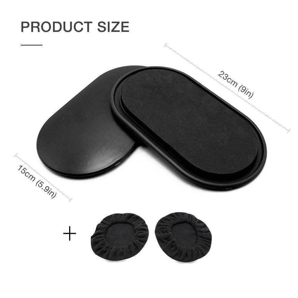 Top-Sky 1Pair Sliding Gliding Disc Fitness Core Sports Body Building Workout Yoga Slider