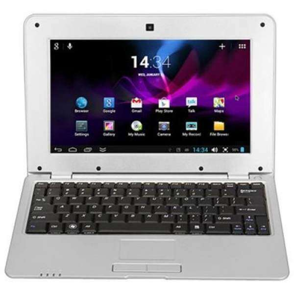 1088A ANDROID 4.4 NETBOOK WITH 10.1 INCH WSVGA WM8880 DUAL CORE 1.5GHZ 1GB 8GB WIFI CAMERA (SILVER) Malaysia