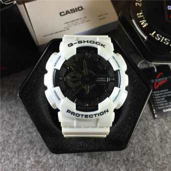 Premium quality Men G_Shock style Autolight Sports White Resin Watch GA-110BR-1A2