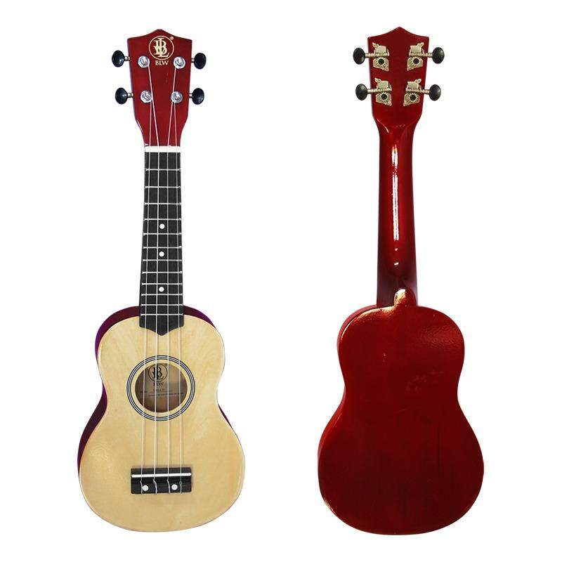 Blw 21 Inch 4 Nylon Strings Soprano Ukulele Hawaii Guitar Free Bag