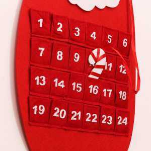 Santa snowman deer calendar Christmas tree pendant accessory # Red - intl
