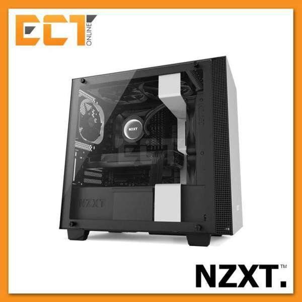 NZXT H400 Full Tempered Glass Micro ATX Gaming Casing Chassis (Black/White) Malaysia