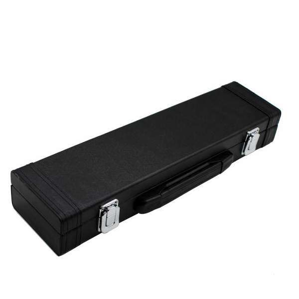 Qimiao Portable High Strength Flute Leather Box with Carry Handle Wear Resistant Flute Case