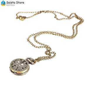 Hình thu nhỏ sản phẩm Saista Fob Pocket Watch Pocket Watch Butterfly Copper Accessory Vintage