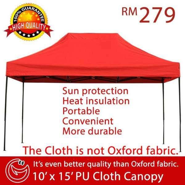 10x15 PU Fabric Canopy Tent Khemah Kanopi Wedding Bazar Ramadhan Party Event Stall Sun Shade Car