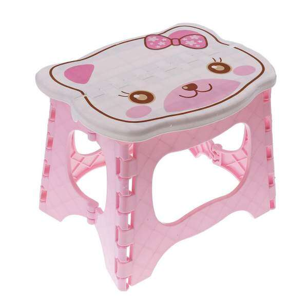 MagiDeal Kids Children Chair Step Stool Chair Portable Bench Folding Chair  Pink   Intl Philippines
