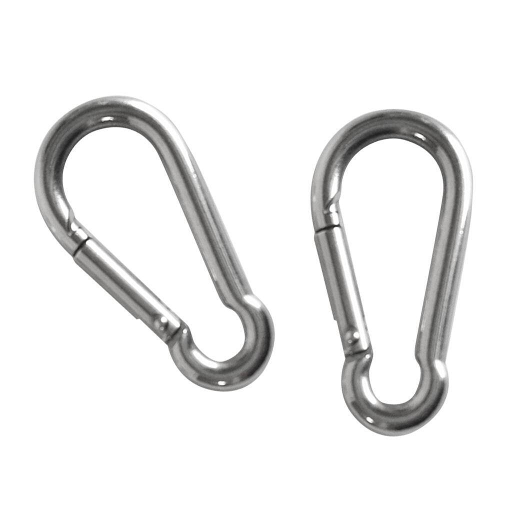 MagiDeal 4 Pieces Stainless Steel Carabiner Clip Snap Spring Fast Hook Buckle M4 M5