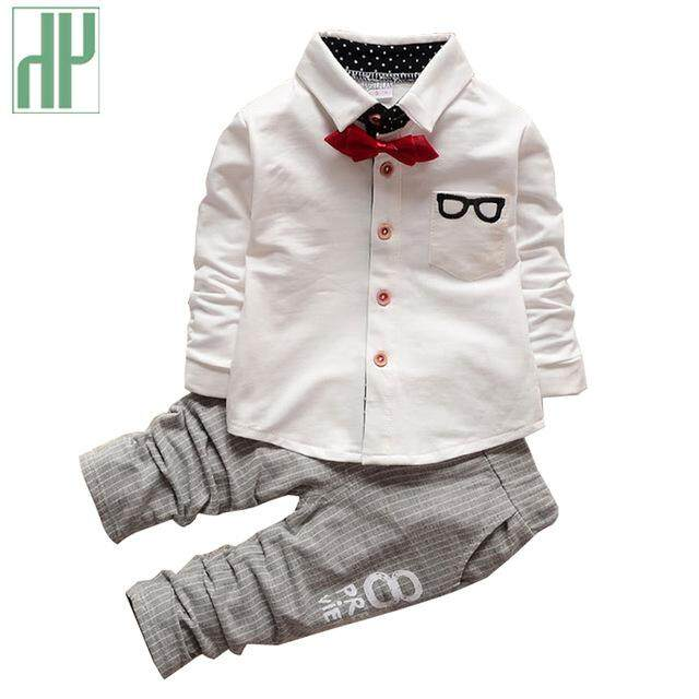 Kids clothes boys Autumn children clothing sets formal suit girls boutique outfitss gentleman toddler boy clothes birthday dress