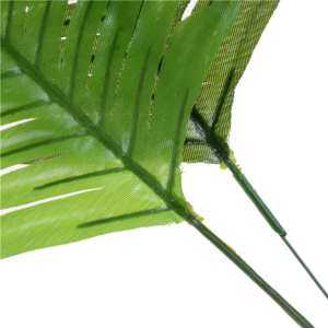 Hình thu nhỏ sản phẩm 5pcs Lifelike Artificial Green Palm Branch Leaves Wedding Party Home Decor 38cm Light green