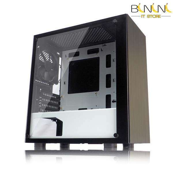 TECWARE NEXUS M TEMPERED GLASS MATX CASING ( BLACK/WHITE ) Malaysia