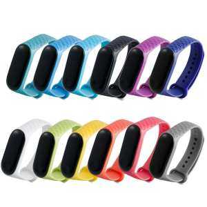12 Colors Anti-Lost Silicone Replacement Wristband Strap Bracelet Watchband for Xiao Mi Band 3 Smart Band Accessories