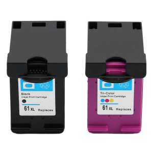 LALOVE New Non-OEM Ink Cartridge for 61XL/61 for Officejet J110a j210a j310a j410a 1000 2000 1510 2540 4500 2600 1050 2050 1pc black and 1pc tri-color HP61