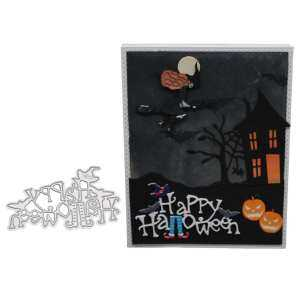 Hình thu nhỏ sản phẩm Big House Happy Halloween Cutting Dies Stencil Metal Mould Template For DIY Scrapbook Album Paper Card Making 2018 Style:1804476