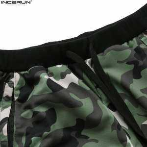 Hình thu nhỏ INCERUN Mens Summer Casual Shorts Running Gym Bodybuilding Workout Joggers Camouflage Sportshorts