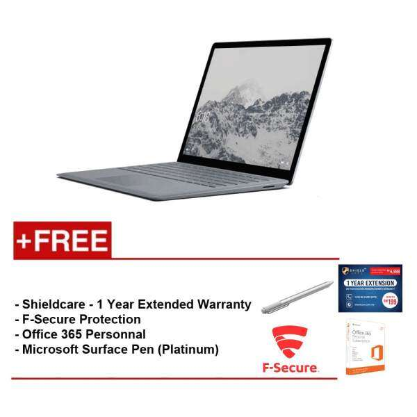 Surface Laptop Core i5/8GB RAM - 256GB + Shield Care 1 Year Extended Warranty + F-Secure End Point Protection + Office 365 Personal + Microsoft Surface Pen Platinum Malaysia