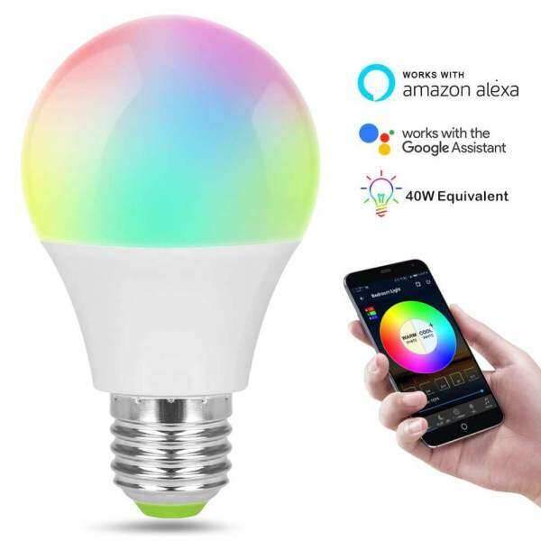 【Jnan】Smart Ball Lamp Wifi Remote Control LED E27 Light LED White Bulb Alexa Google Home Assistant Supports IOS And Android Smartphones