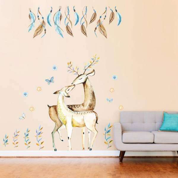 Living Room Non Toxic Removable Decor Sticker Romantic Bedroom Background Decorative  Wall Stickers Decorating Decals Sticker   Intl Philippines