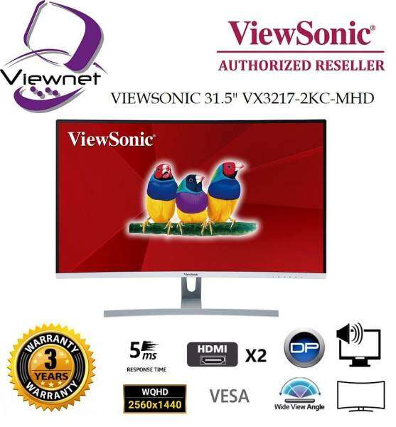 GENUINE VIEWSONIC LED IPS CURVED WQHD 31.5 VX3217-2KC-MHD LCD MONITOR (5MS/HDMI/DP/VESA/SPK) BLACK Malaysia